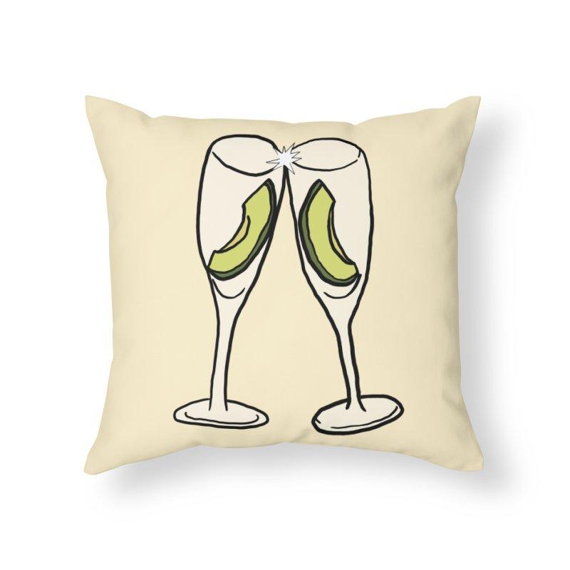 Avocado Toast Home Throw Pillow by TenEastRead's Artist Shop