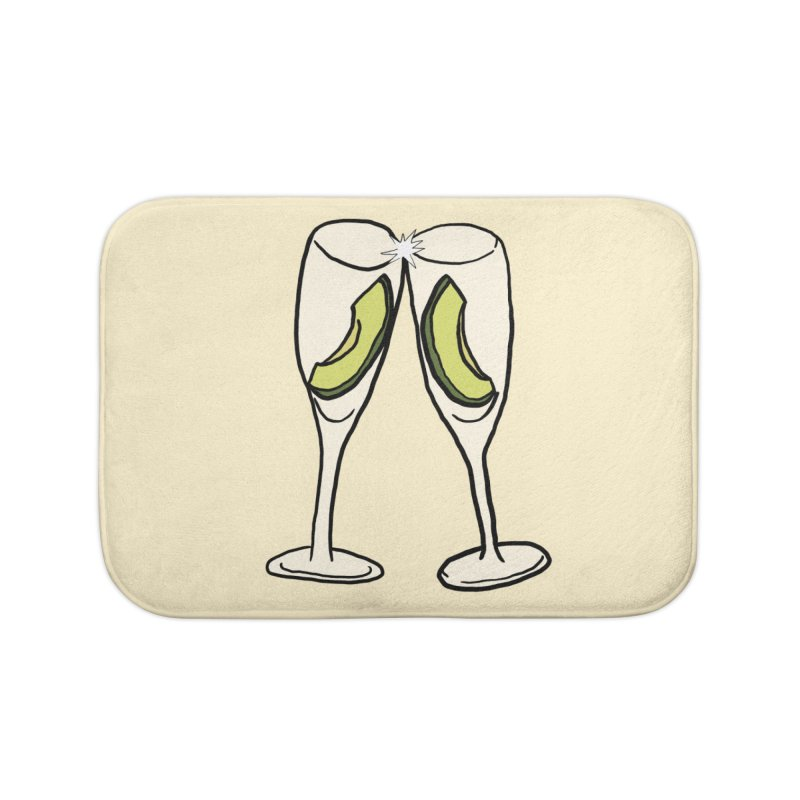 Avocado Toast Home Bath Mat by TenEastRead's Artist Shop