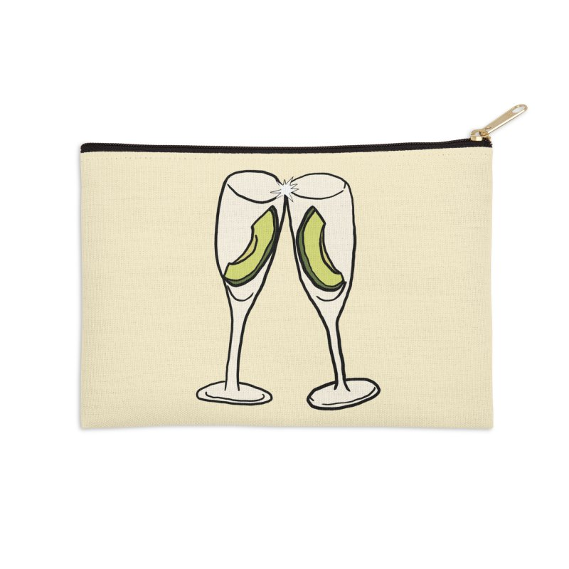Avocado Toast Accessories Zip Pouch by TenEastRead's Artist Shop