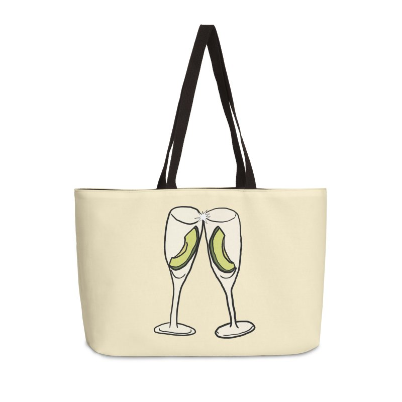 Avocado Toast Accessories Weekender Bag Bag by TenEastRead's Artist Shop
