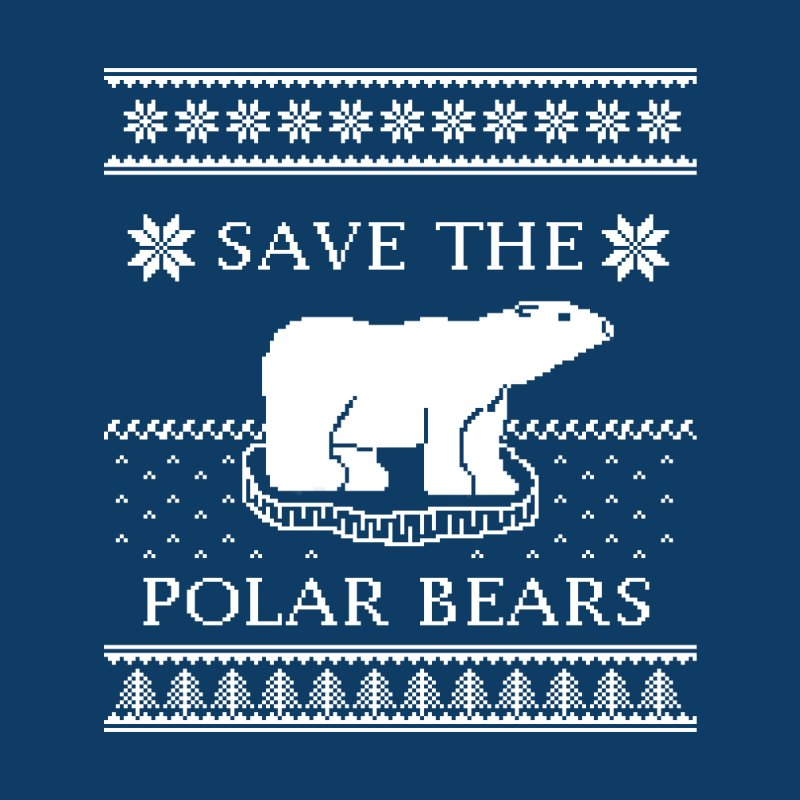 Save The Polar Bears Ugly Sweater Tee Men's Tank by TenEastRead's Artist Shop