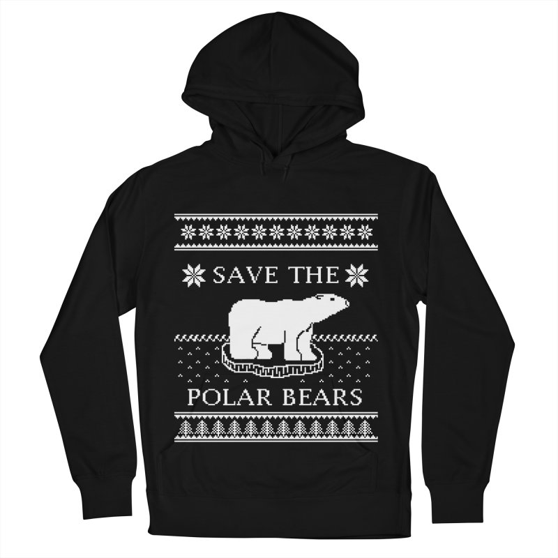 Save The Polar Bears Ugly Sweater Tee Men's French Terry Pullover Hoody by TenEastRead's Artist Shop