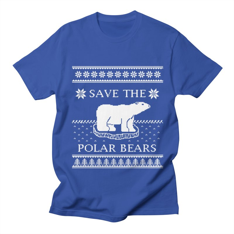 Save The Polar Bears Ugly Sweater Tee Men's T-Shirt by TenEastRead's Artist Shop