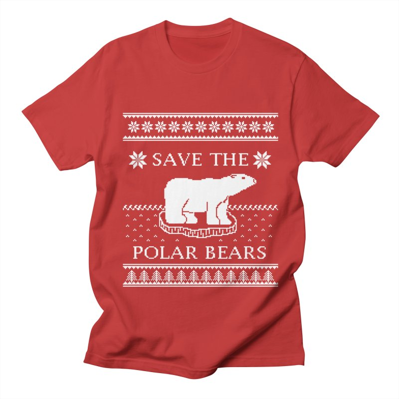 Save The Polar Bears Ugly Sweater Tee Women's Regular Unisex T-Shirt by TenEastRead's Artist Shop
