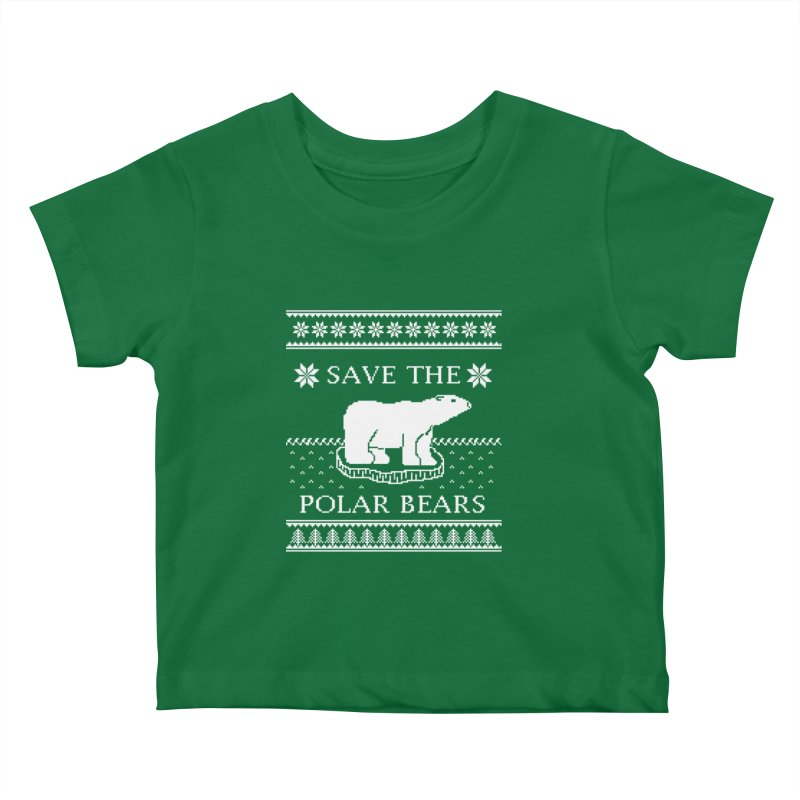 Save The Polar Bears Ugly Sweater Tee Kids Baby T-Shirt by TenEastRead's Artist Shop