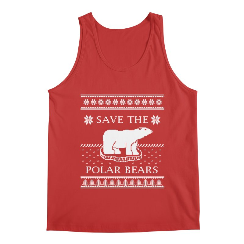 Save The Polar Bears Ugly Sweater Tee Men's Regular Tank by TenEastRead's Artist Shop