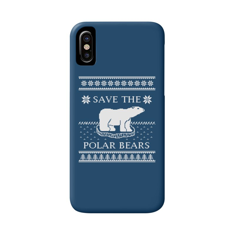 Save The Polar Bears Ugly Sweater Tee Accessories Phone Case by TenEastRead's Artist Shop