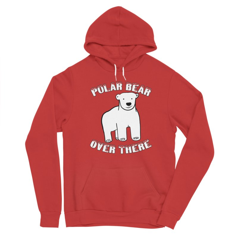 Polar Bear Over There Women's Pullover Hoody by TenEastRead's Artist Shop
