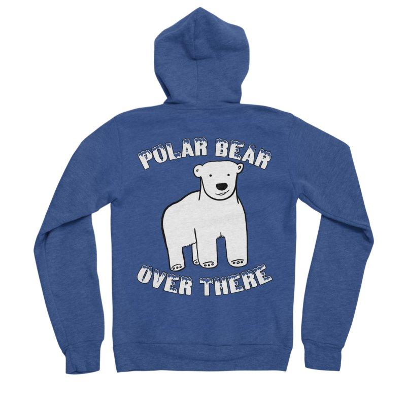 Polar Bear Over There Men's Sponge Fleece Zip-Up Hoody by TenEastRead's Artist Shop