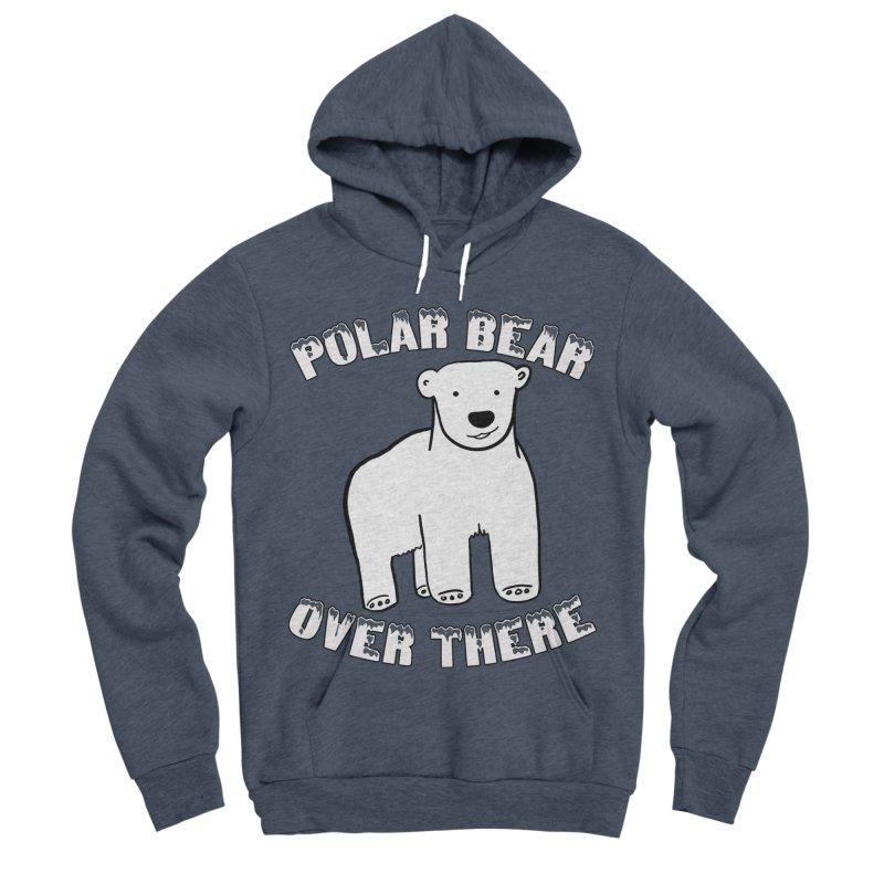 Polar Bear Over There Men's Sponge Fleece Pullover Hoody by TenEastRead's Artist Shop