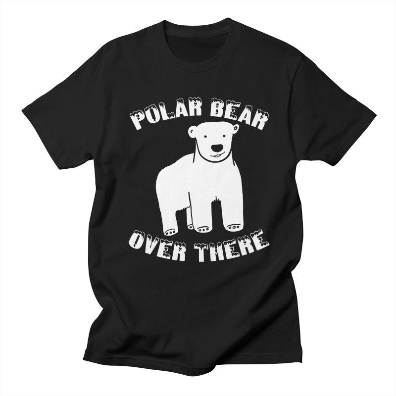 Polar Bear Over There Men's Regular T-Shirt by TenEastRead's Artist Shop