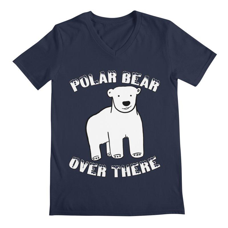 Polar Bear Over There Men's Regular V-Neck by TenEastRead's Artist Shop