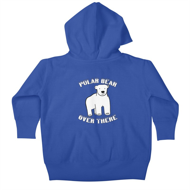 Polar Bear Over There Kids Baby Zip-Up Hoody by TenEastRead's Artist Shop