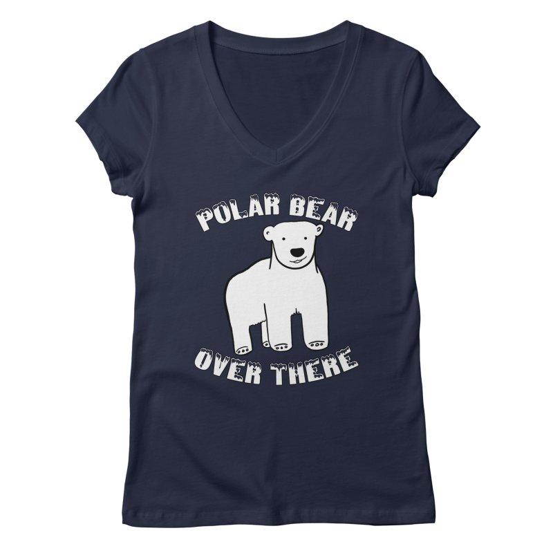 Polar Bear Over There Women's Regular V-Neck by TenEastRead's Artist Shop