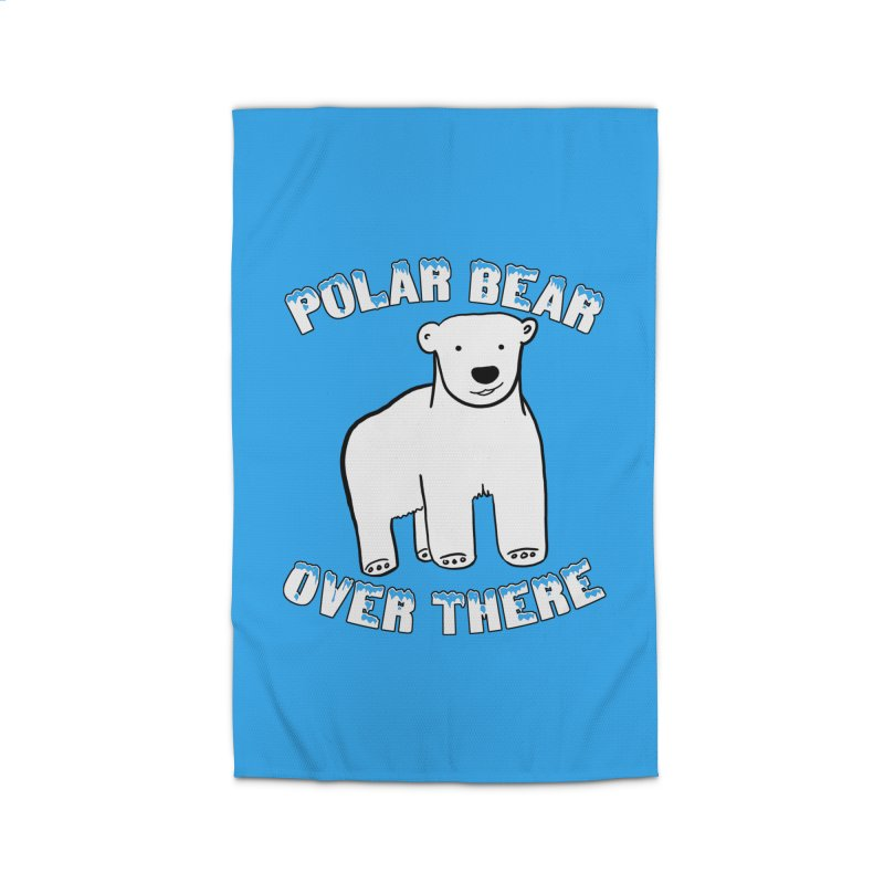 Polar Bear Over There Home Rug by TenEastRead's Artist Shop