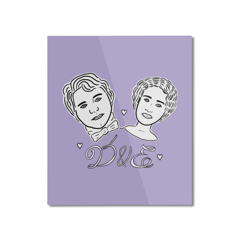 Darcy & Elizabeth Home Mounted Aluminum Print by TenEastRead's Artist Shop