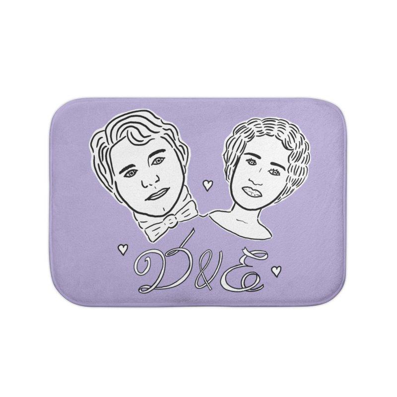 Darcy & Elizabeth Home Bath Mat by TenEastRead's Artist Shop