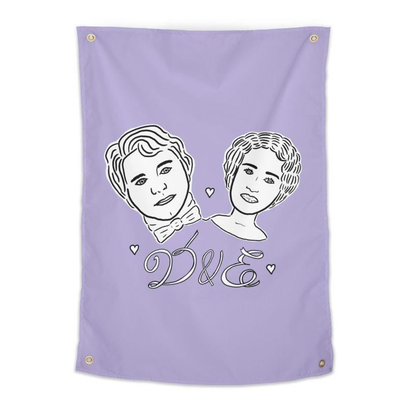 Darcy & Elizabeth Home Tapestry by TenEastRead's Artist Shop