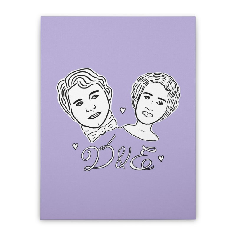 Darcy & Elizabeth Home Stretched Canvas by TenEastRead's Artist Shop