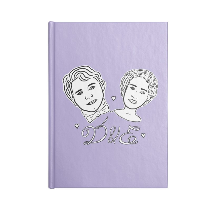 Darcy & Elizabeth Accessories Lined Journal Notebook by TenEastRead's Artist Shop