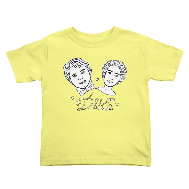 Darcy & Elizabeth Kids Toddler T-Shirt by TenEastRead's Artist Shop