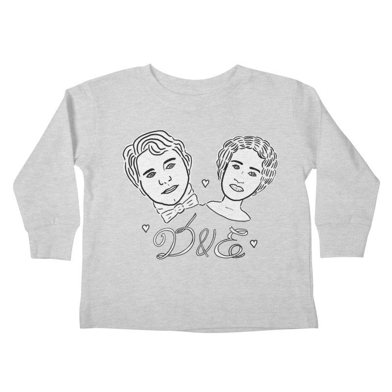 Darcy & Elizabeth Kids Toddler Longsleeve T-Shirt by TenEastRead's Artist Shop
