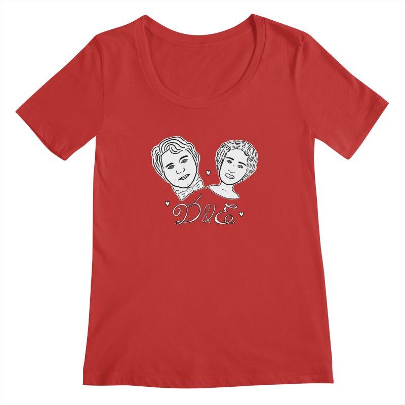 Darcy & Elizabeth Women's Regular Scoop Neck by TenEastRead's Artist Shop