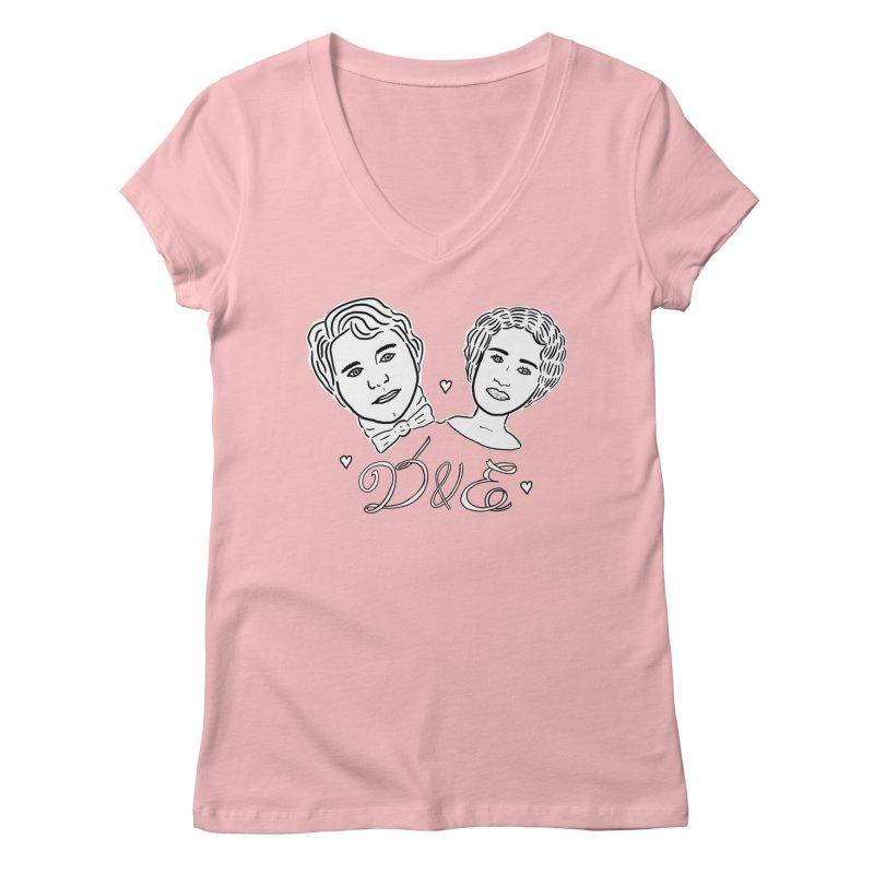 Darcy & Elizabeth Women's Regular V-Neck by TenEastRead's Artist Shop