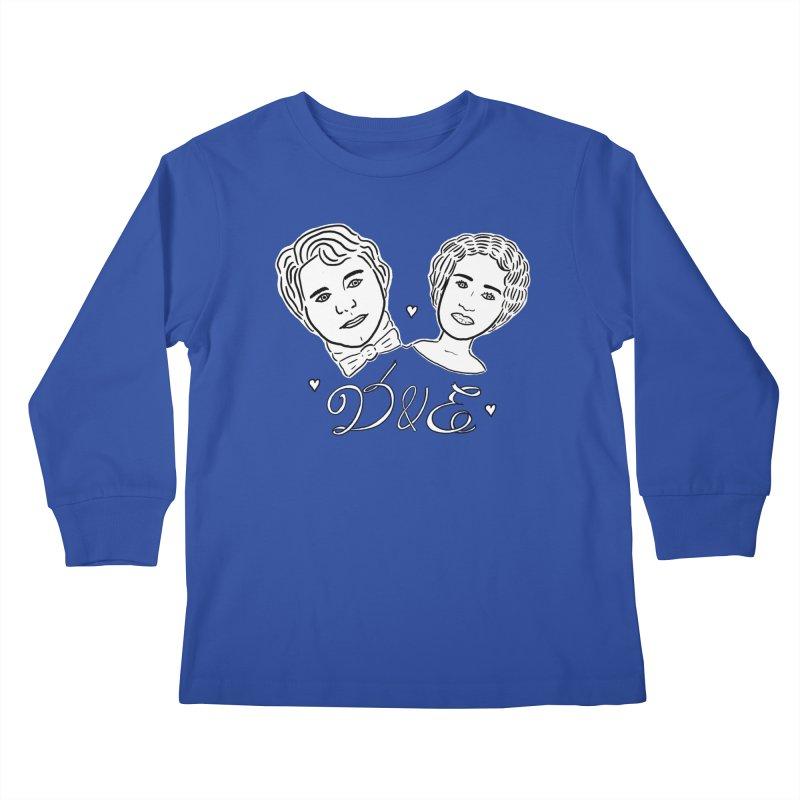 Darcy & Elizabeth Kids Longsleeve T-Shirt by TenEastRead's Artist Shop