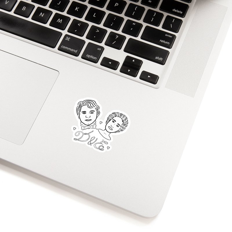Darcy & Elizabeth Accessories Sticker by TenEastRead's Artist Shop