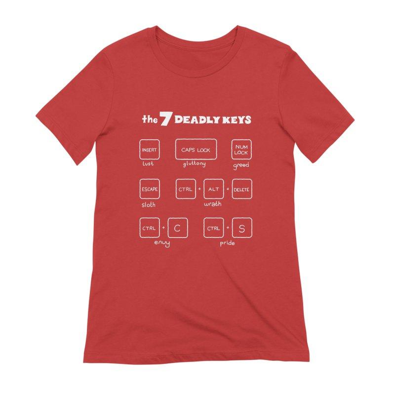 The Seven Deadly Keys Women's T-Shirt by TenEastRead's Artist Shop