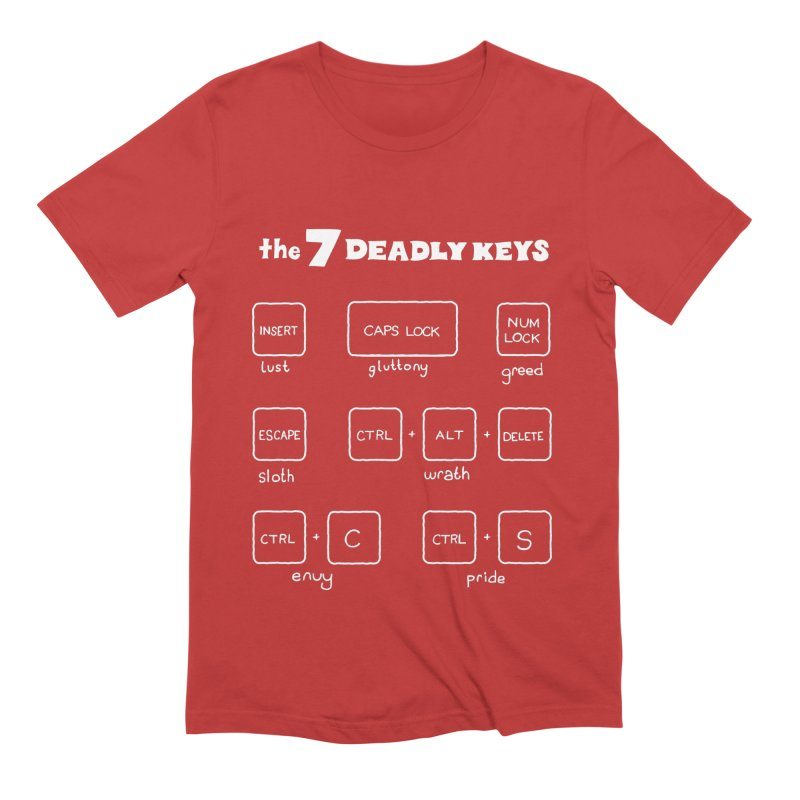 The Seven Deadly Keys Men's T-Shirt by TenEastRead's Artist Shop