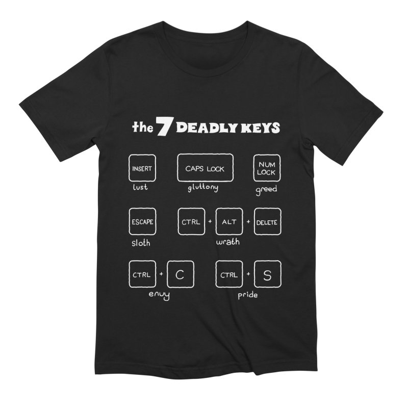The Seven Deadly Keys Men's T-Shirt by TenEastRead's Artist Shop