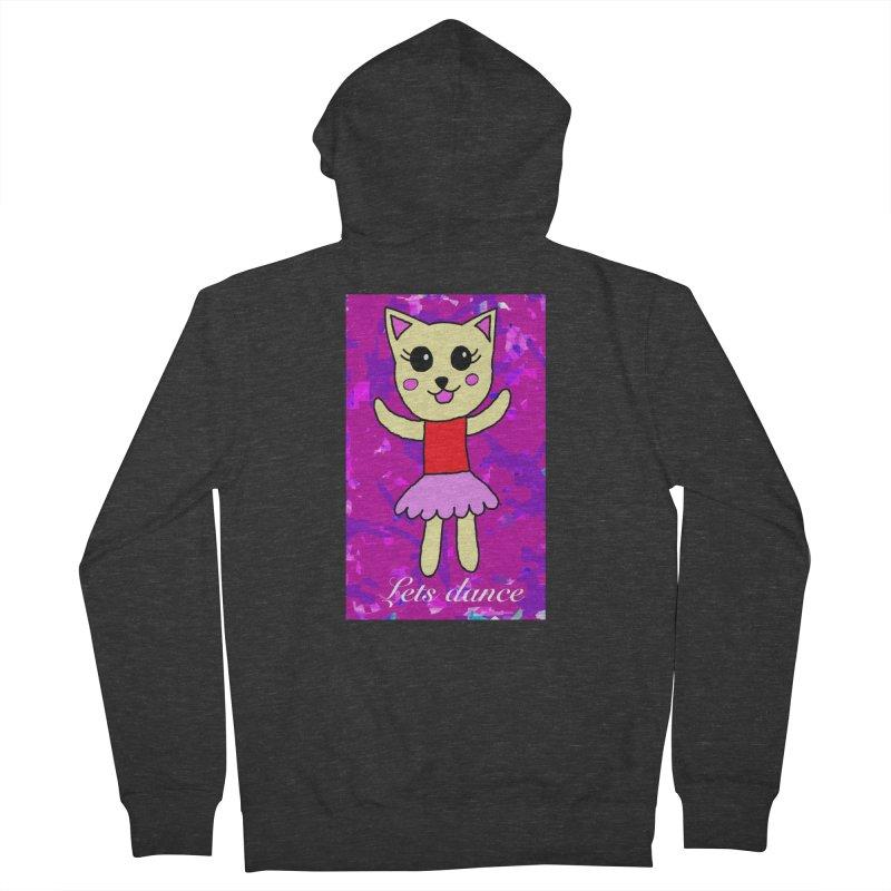 Ballerina cat Women's Zip-Up Hoody by Teresa's design's Artist Shop