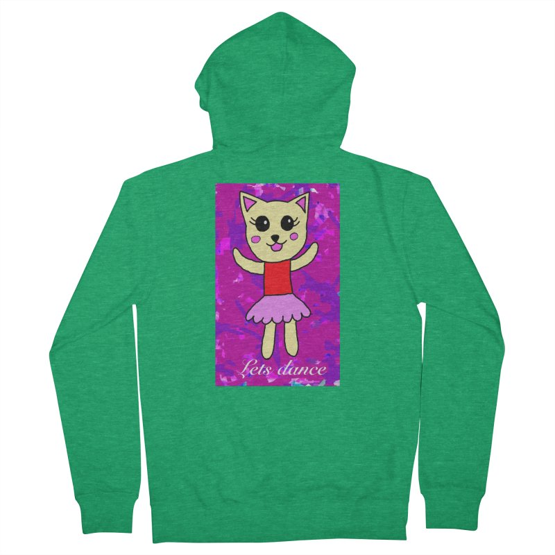 Ballerina cat Men's Zip-Up Hoody by Teresa's design's Artist Shop