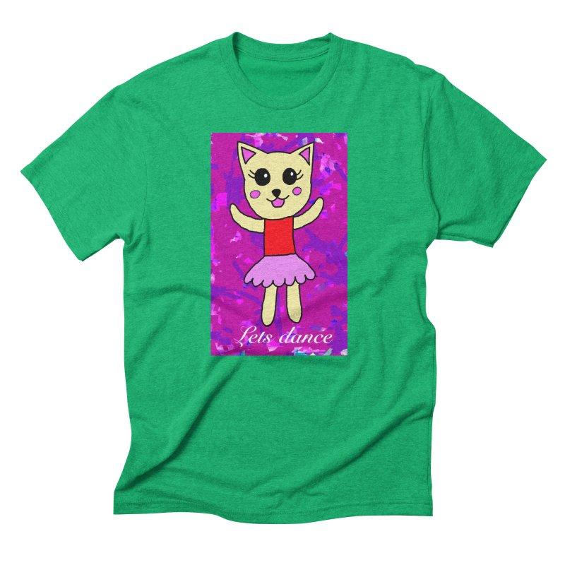 Ballerina cat Men's Triblend T-shirt by Teresa's design's Artist Shop