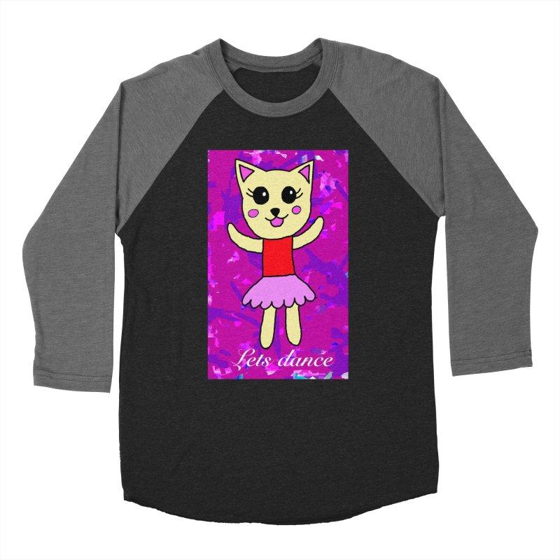Ballerina cat Women's Baseball Triblend T-Shirt by Teresa's design's Artist Shop