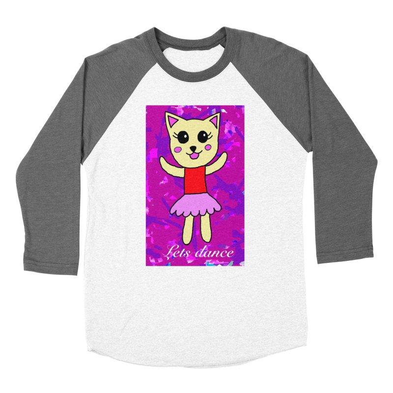 Ballerina cat Men's Baseball Triblend T-Shirt by Teresa's design's Artist Shop