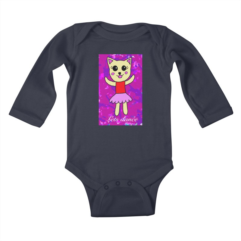 Ballerina cat Kids Baby Longsleeve Bodysuit by Teresa's design's Artist Shop