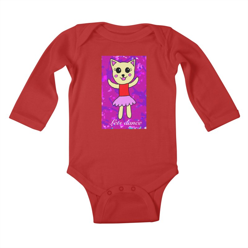 Ballerina cat Kids Baby Longsleeve Bodysuit by Teresa's design's Artist Shop