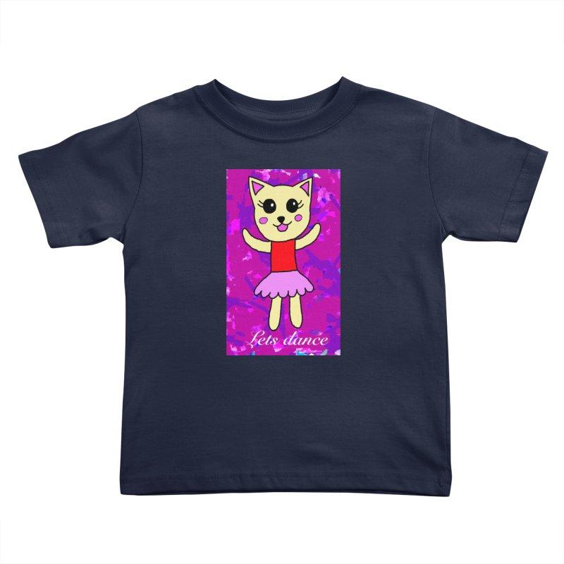 Ballerina cat Kids Toddler T-Shirt by Teresa's design's Artist Shop