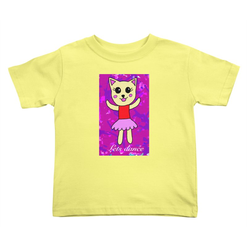 Ballerina cat Kids Toddler T-Shirt by Teresa's design's Artist Shop