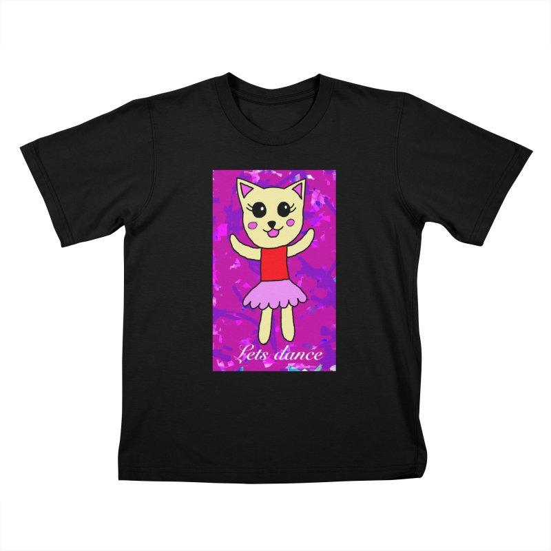 Ballerina cat Kids T-Shirt by Teresa's design's Artist Shop