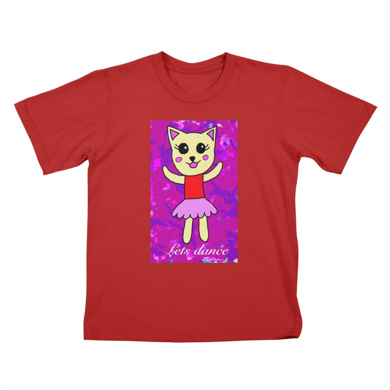 Ballerina cat Kids T-shirt by Teresa's design's Artist Shop