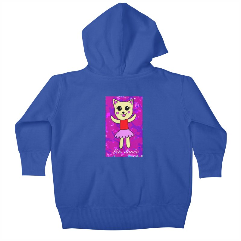 Ballerina cat Kids Baby Zip-Up Hoody by Teresa's design's Artist Shop
