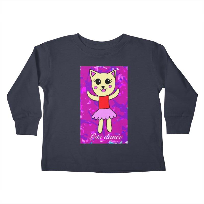 Ballerina cat Kids Toddler Longsleeve T-Shirt by Teresa's design's Artist Shop