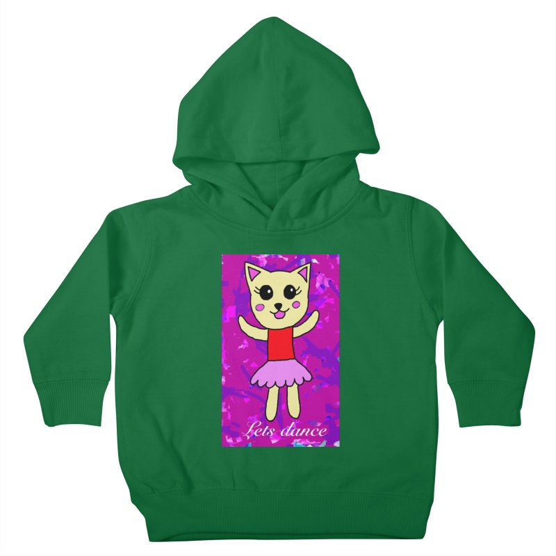Ballerina cat Kids Toddler Pullover Hoody by Teresa's design's Artist Shop