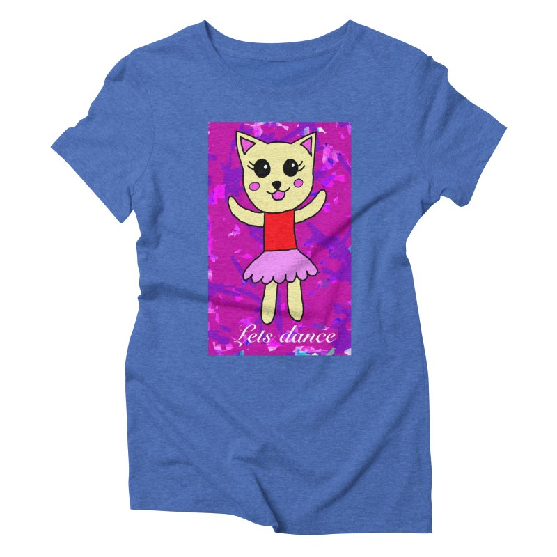 Ballerina cat Women's Triblend T-Shirt by Teresa's design's Artist Shop