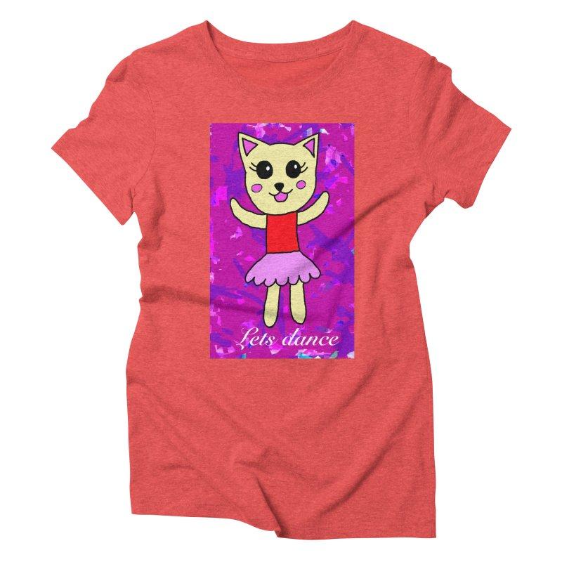 Ballerina cat Women's Triblend T-shirt by Teresa's design's Artist Shop