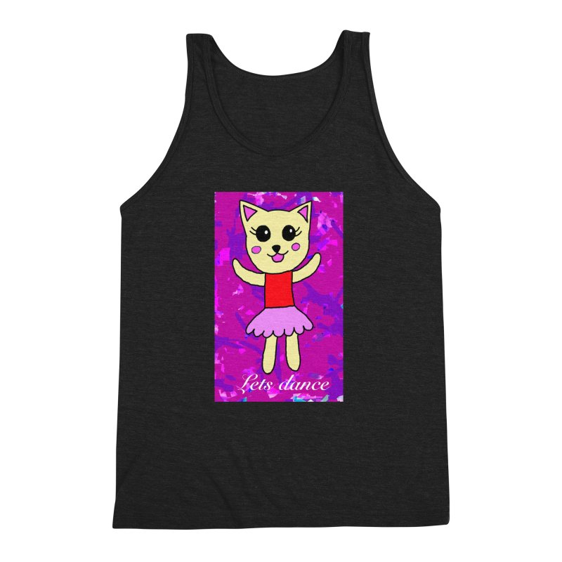 Ballerina cat Men's Triblend Tank by Teresa's design's Artist Shop
